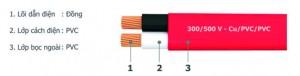Cáp điện Cu/PVC/PVC