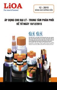 Bảng giá dây và cáp điện LiOA (12/2015)
