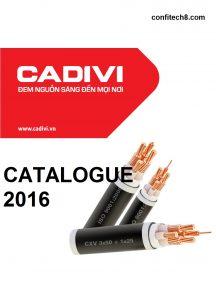 Bảng thông số kỹ thuật (catalogue) dây cáp điện CADIVI