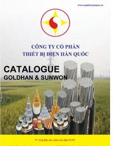 Bảng thông số kỹ thuật (catalogue) dây cáp điện SUNWON GOLDHAN