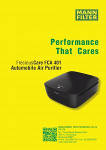 Máy lọc không khí ô tô Mann (FCA 401)
