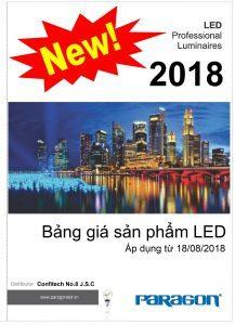 Bảng giá đèn led Paragon 2018 (18/08/2018)
