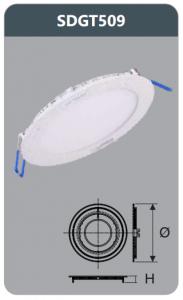 Đèn led panel âm trần tròn 9w SDGT509
